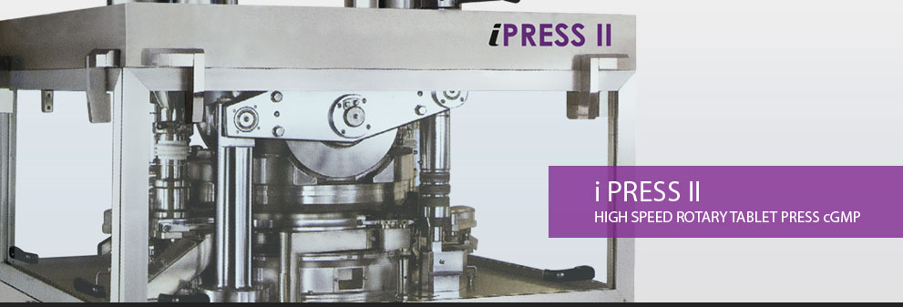 i Press II | High Speed Rotary Tablet Press cGMP Manufacturer and exporter in india